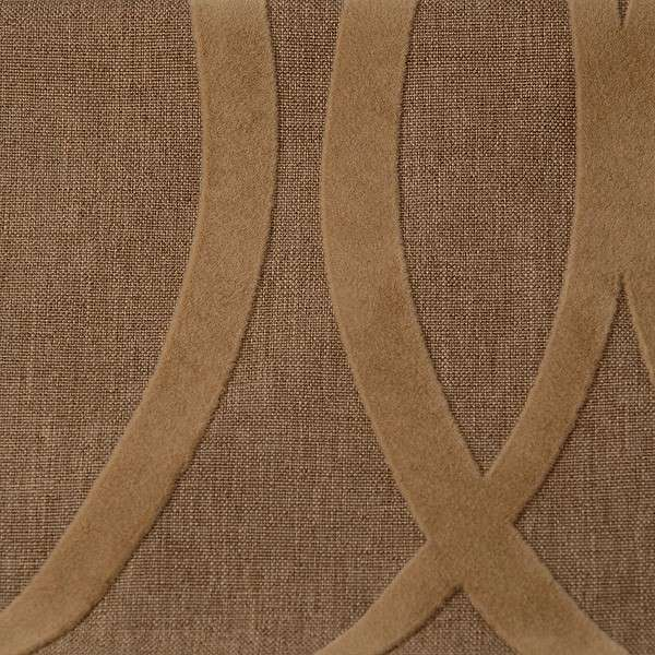 Linonovo Geometric brown semišový flock